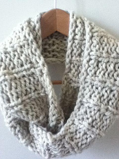 The Mid-December Easy Knit Infinity Scarf, free pattern by A Crafty House
