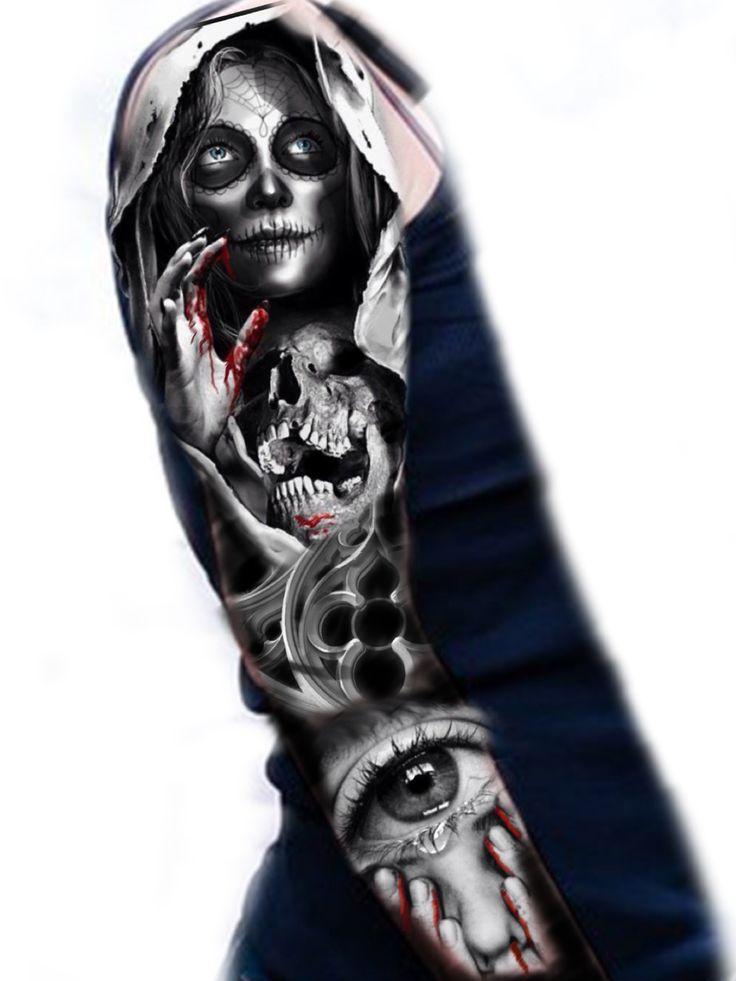 Sugar skull sleeve