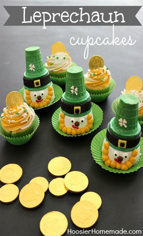 Leprechaun Cupcakes for St. Patrick's Day :: Instructions on HoosierHomemade.com