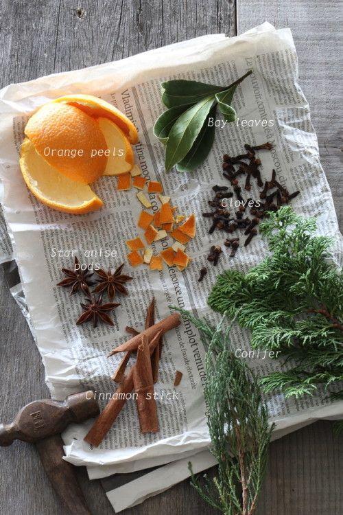 スパイス&果実で作る 香りのクリスマスオーナメント : photo by Teiko Nozaki