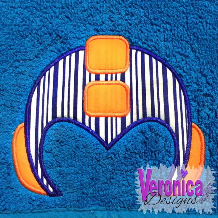 *All prices are in listed USD$  Hooded Towel Applique Helmet Embroidery Design
