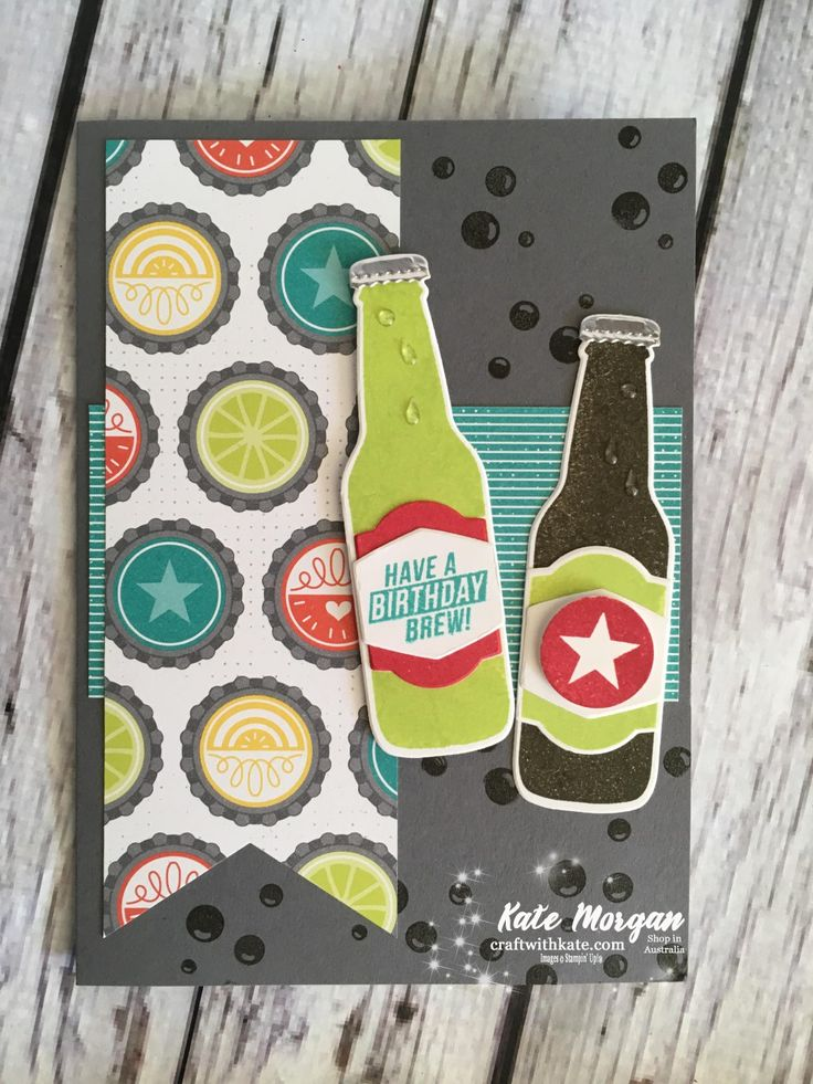 Bubble Over Masculine card, Stampin Up by Kate Morgan DIY