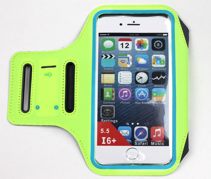 5.5'' SPORTS Armband for IPhone 7/6/6S Plus/ Support FINGERPRINT UNLOCK & Touchscreen/ Cash & Card Pocket/ Key Holder/ Reflective strip Design/ Stretch Lycra fabric/ Water-Resistant (Green). FINGERPRINT RECOGNITION: Perfect Solved Iphone Fingerprint Unlock Operation<br>High - tech Nano Human - Computer Interaction Fingerprint Wake - up Material, Perfect Solved to the all Armband with PVC Touch Screen cannot Fingerprint Wake up the Phone Problem, Gently Press can Wake up, Unlock the Phone...