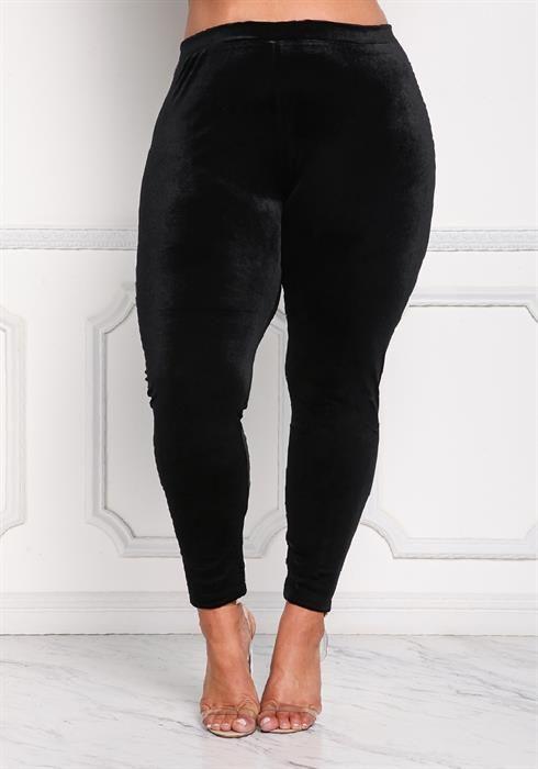 $19.95---3X---BLACK--- Velvet High Rise Leggings