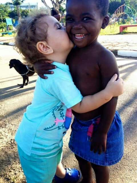 Hate is not natural, it must be taught.  Love is natural and knows no color…