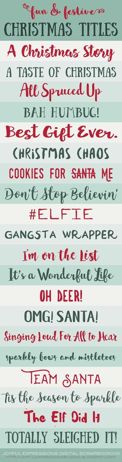 Joyful Expressions : 20 Fun & Festive Christmas Scrapbooking Page Title...