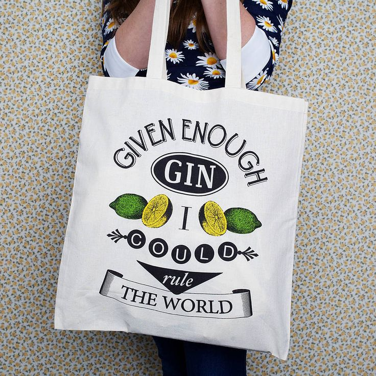 'Given Enough Gin' Tote Bag from notonthehighstreet.com