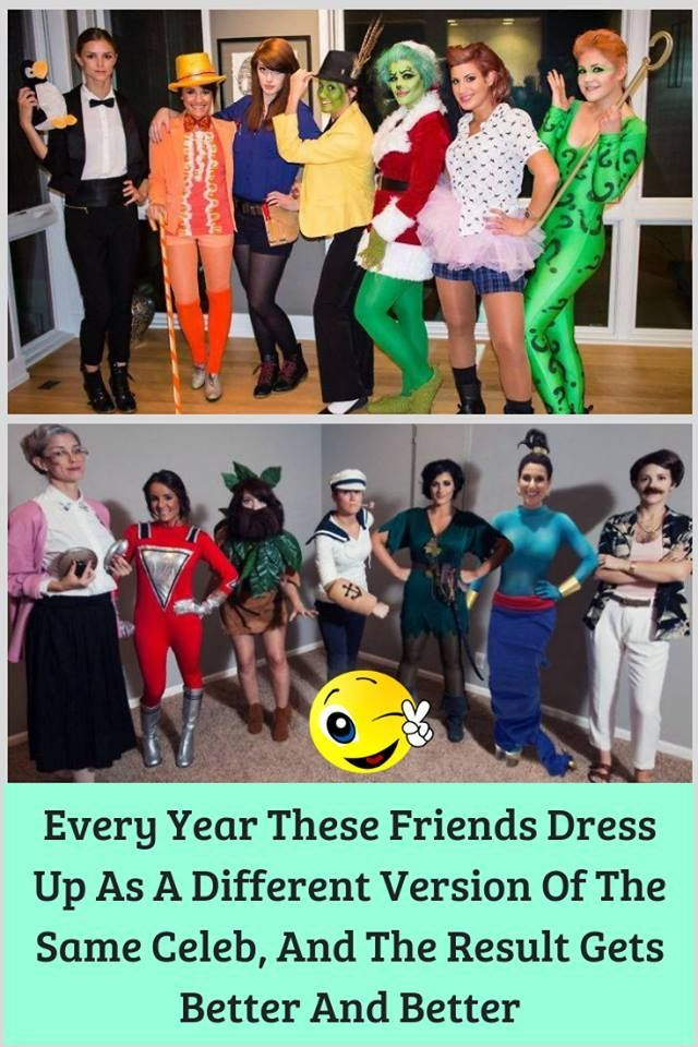 Different Version Of Halloween 2020 Every Year These Friends Dress Up As A Different Version Of The