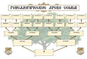 Генеалогическое древо в Ворде - шаблон word схемы бесплатно