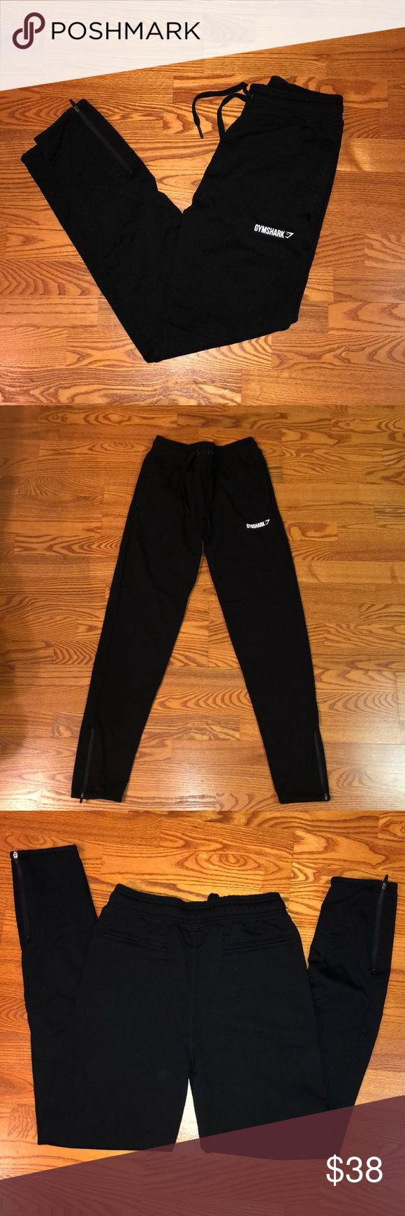 GymShark joggers - never been warn I bought two pairs of joggers (this and the high waisted ones I'm selling) I'm 4'10 and too short. They fit weird because of my height but it cost more than half of what I paid to mail them back for a refund. Figured I'd keep them and maybe one day wear them but I won't. GymShark Pants Track Pants & Joggers