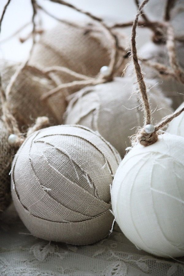 I am surprised at how beautiful these fabric ball ornaments are!