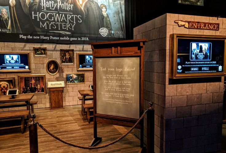 We're all set up at HP Celebration. Come to our booth to solve our riddle, meet the team and play the game! Harry Potter: Hogwarts Mystery, January 2018