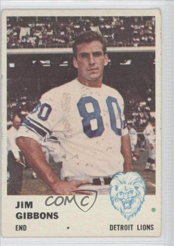 Jim Gibbons COMC REVIEWED Good to VG-EX Detroit Lions (Football Card) 1961 Fleer #82 by Fleer. $2.00. 1961 Fleer #82 - Jim Gibbons COMC REVIEWED Good to VG-EX