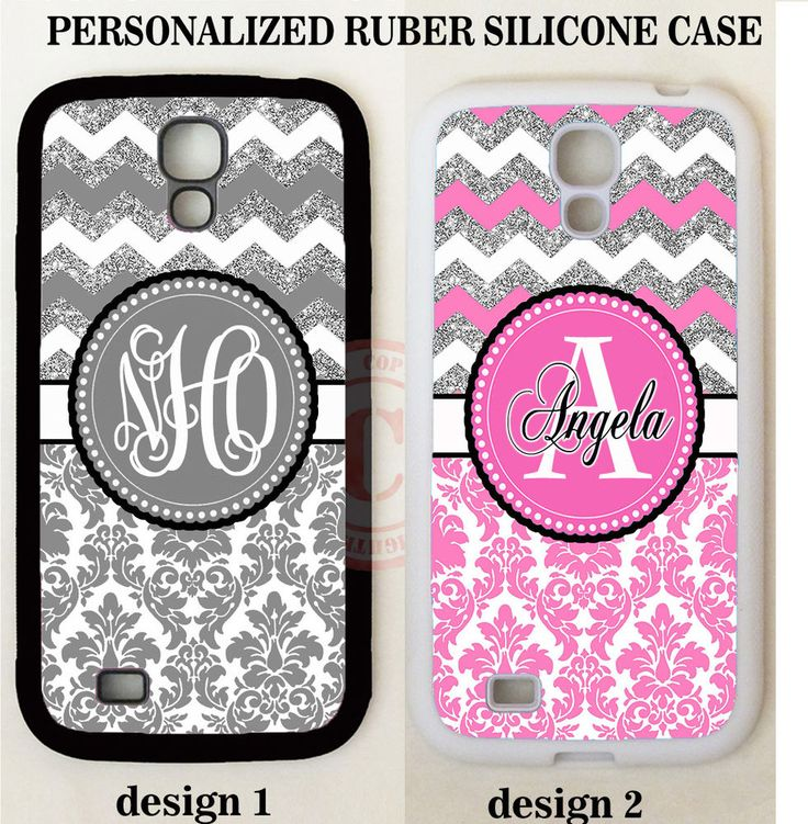 GREY PINK DAMASK CHEVRON MONOGRAM PHONE Case For Samsung Galaxy S8 S7 S6 NOTE 5 #UnbrandedGeneric