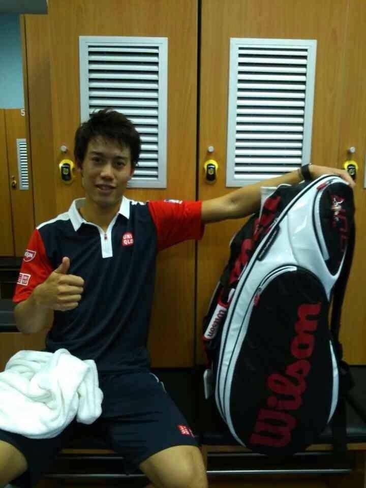 Japan top tennis player, 錦織圭.