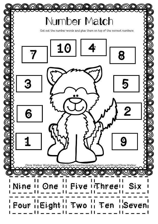 Winter Math Numbers to 10 / Recognise Numbers to Ten