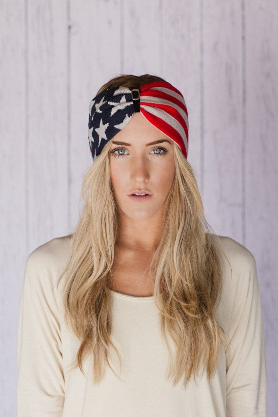 Winter Olympics, American Flag Headband, USA Hair Band, Turband American Turband Headband Red White Blue July 4th Fashion Accessory (HB-170) on Etsy, $28.00