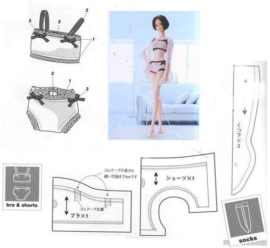 Выкройка нижние белье