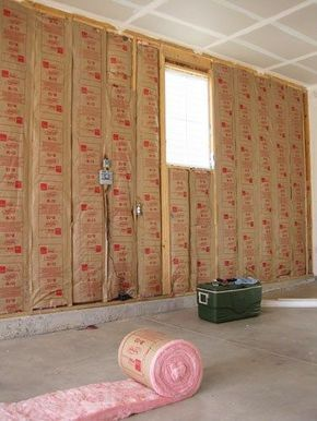 Insulate and drywall garage