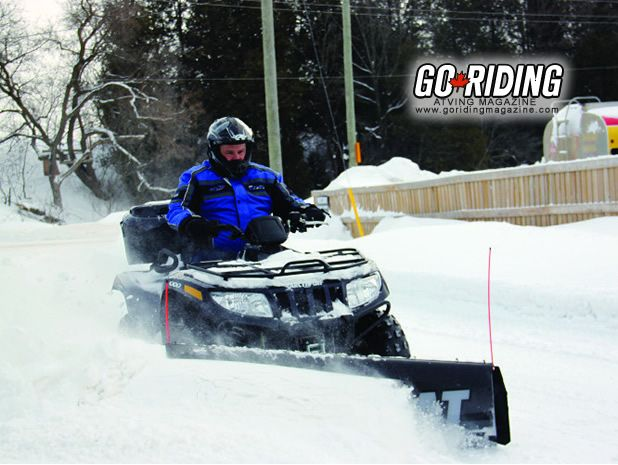 Tips and Tricks for using your ATV as a snow plow.