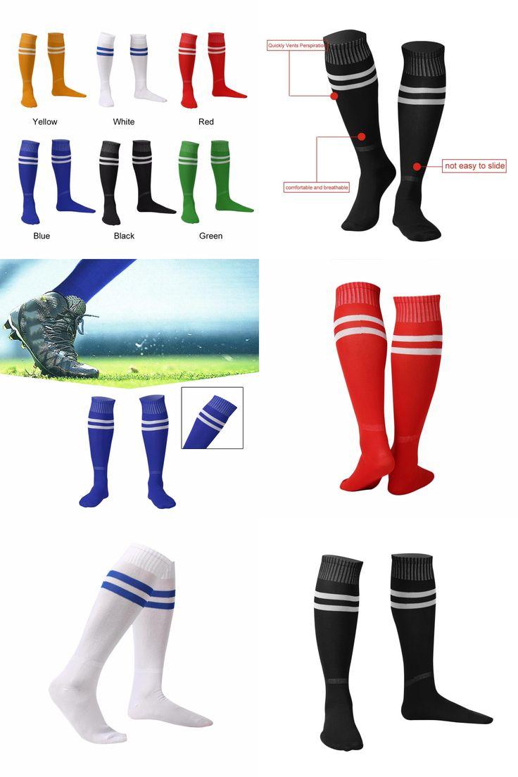 [Visit to Buy] 1 Pair Sports Socks Knee Legging Stockings Soccer Baseball Football Over Knee Ankle Men Women Socks free shipping In Stock Hot #Advertisement