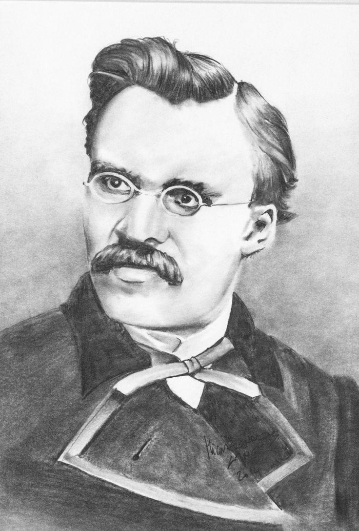 Friedrich Nietzsche,  Pencil on paper,  30x40cm