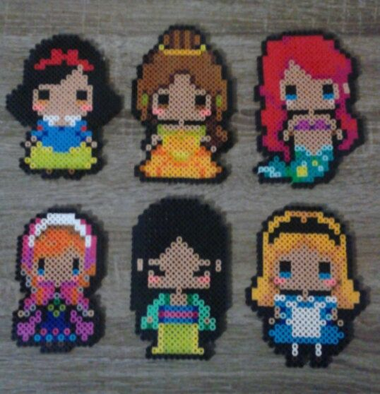 Disney's  Princess Perler Beads                                                                                                                                                      Plus