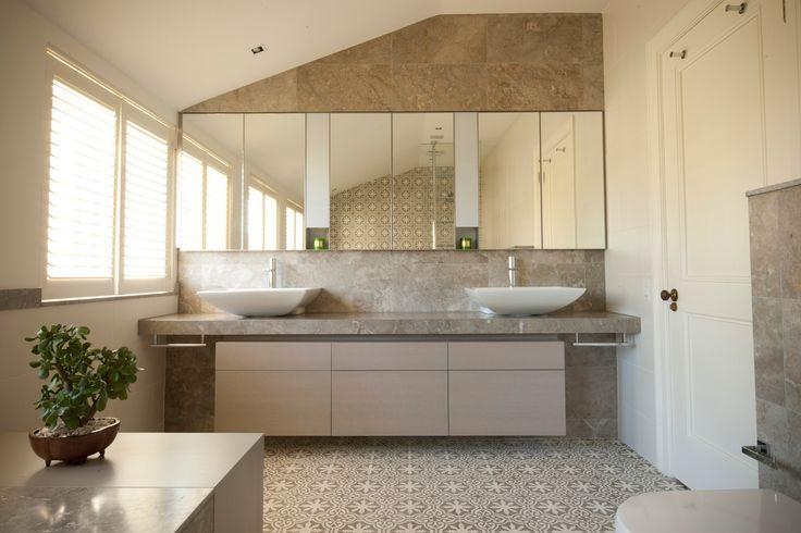 Japanese inspired Master Bathroom with Jatana tiles and Gregoriou Marble. Brooke Aitken Design.