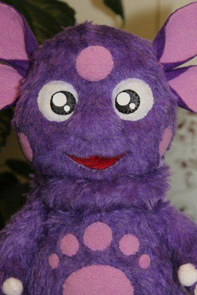 Лунтик, меховая детская игрушка на заказ, своими руками.