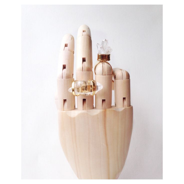 Wood hand and rings