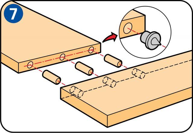Eine Heizkörperverkleidung bauen - Dübelverbindungen