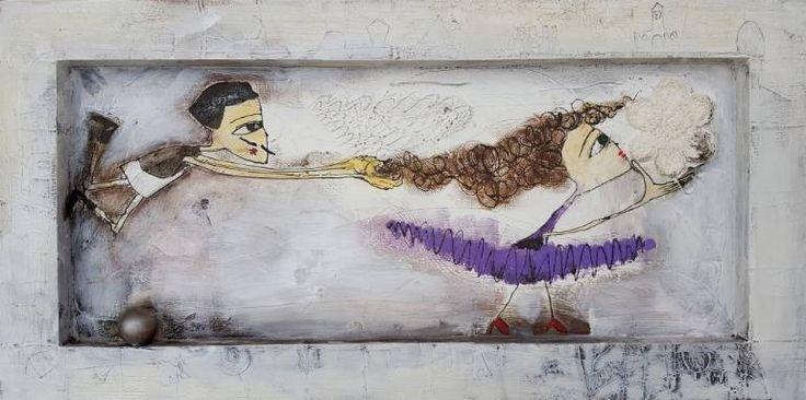 """Saatchi Art Artist Karda Zenkő; Painting, """"run"""" #art"""