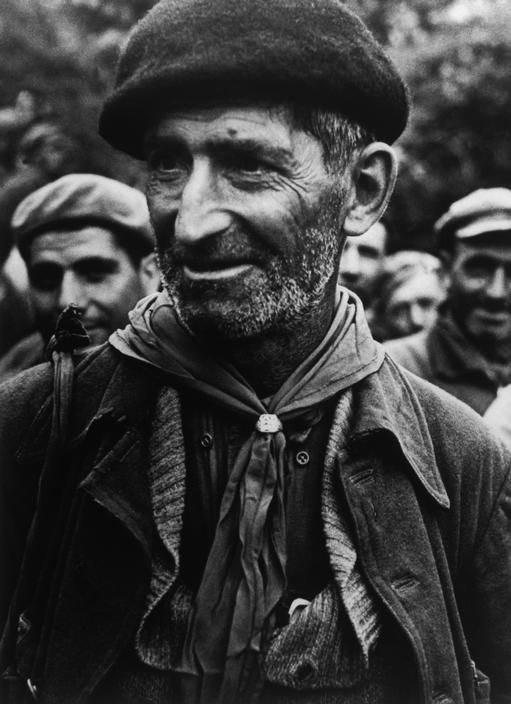 SPAIN. Montblanch, near Barcelona. October 25th, 1938. Bidding farewell to the International Brigades, which were dismissed by the Republican government, as a consequence of Stalin's friendship with Germany.