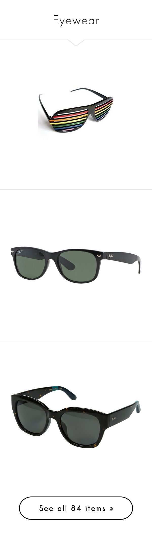 """""""Eyewear"""" by mia-christine ❤ liked on Polyvore featuring accessories, eyewear, sunglasses, ray-ban wayfarer, ray ban sunglasses, green sunglasses, tortoise shell sunglasses, tortoise wayfarer, plastic sunglasses and round lens sunglasses"""