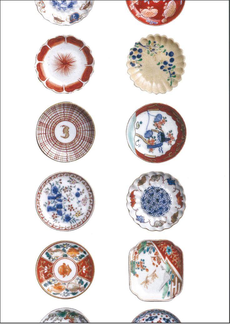 001-11 色絵豆皿