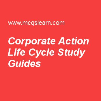 corporate action life cycle pdf