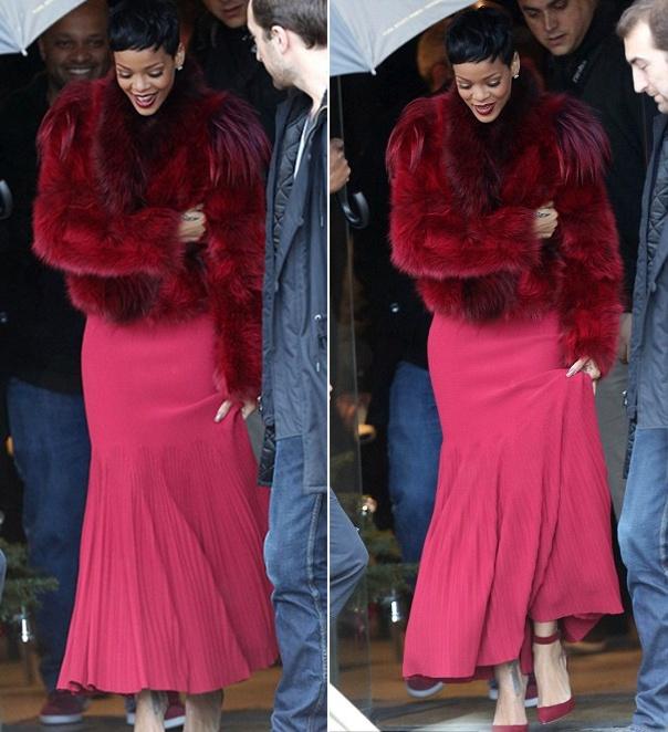 Rihanna in Fur..