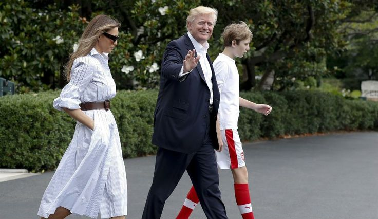 First Son Barron Trump Steals Spotlight On Family's First Trip To Camp David