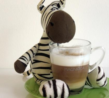 Zebra - Neben guten Speisen liebe ich Kaffee  über alles!