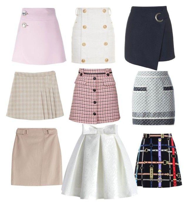 """Skirts for Juliya"" by natalya-dyukina on Polyvore featuring мода, Balmain, Love Moschino, Topshop, Marni, Chicwish, Steffen Schraut и Chanel"