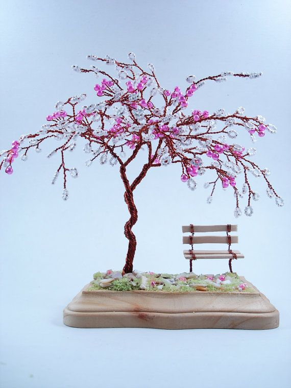 Cherry Blossom Art Sculpture Tree Custom Made to by wireforest, $55.00