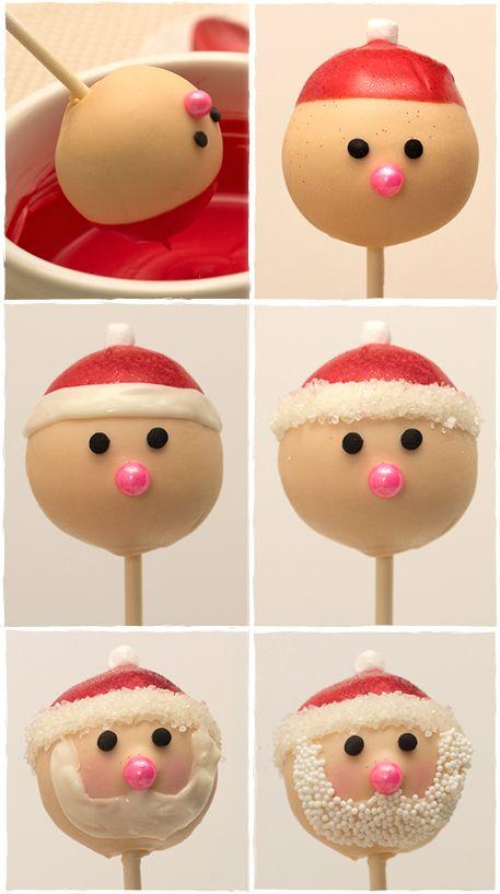 Cakepops Weihnachtsmann