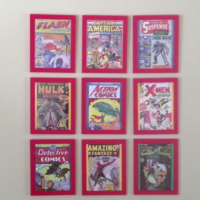 Comic Book Cover Ideas ~ Best images about super hero room ideas on pinterest