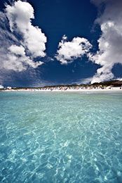 Es Trenc beach, reached by bus from Cala d'Or, Majorca or cycle