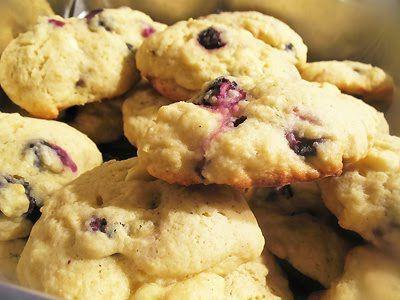 Blueberry Lemon Cake Cookies | Desserts | Pinterest