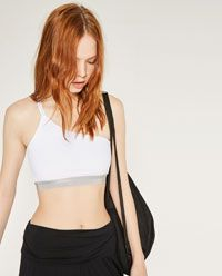 Image 3 of ASYMMETRIC TOP WITH DOUBLE STRAP from Zara