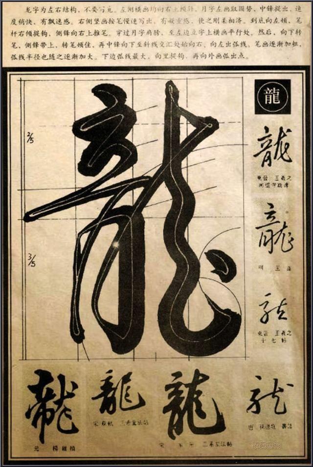 行草筆法·經典解析【龍】