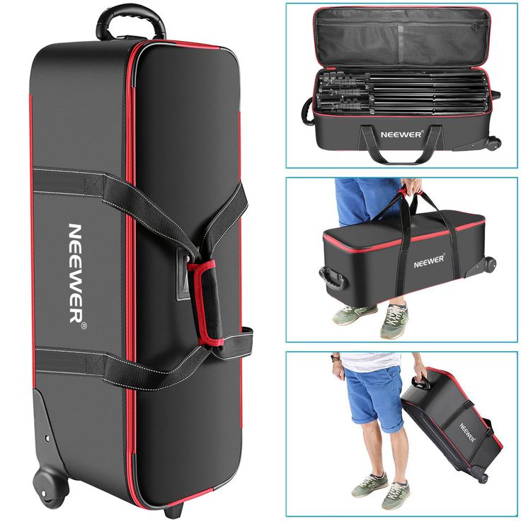Neewer Photo Studio Equipment Trolley Carry Bag for Light Stand Tripod
