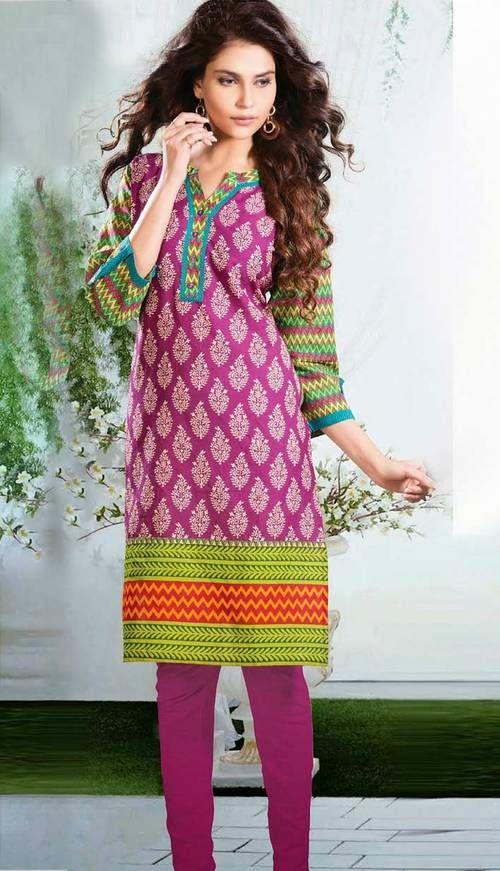 Indian Fashionable Pink Cotton Kurti