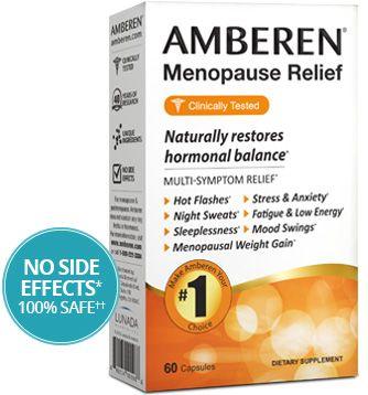 Ingredients Amberen Menopause Relief - Amberen